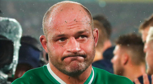Deserved applause: Rory Best after his inspirational display