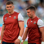 Moving in: England's Owen Farrell (left) will take over fly-half duties from George Ford (right)