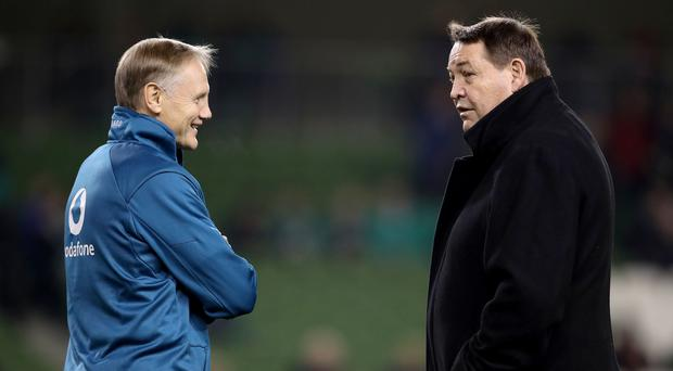 Face off: One of Joe Schmidt and Steve Hansen will have their last game in charge of their respective side