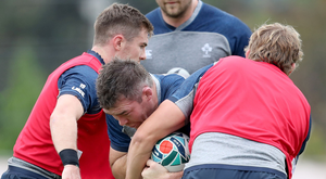 Full confidence: Peter O'Mahony has been given the nod for the World Cup quarter-final clash by boss Joe Schmidt