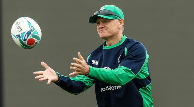 In command: Joe Schmidt at Ireland training session in Tokyo