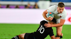 Striding on: Owen Farrell has become a real leader for England