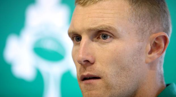 Good form: Keith Earls praised Andrew Conway's display