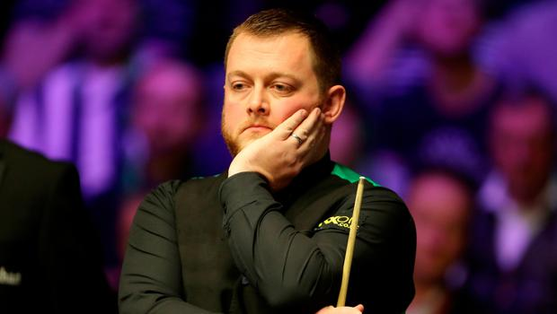 Shock result: Mark Allen exited the NI Open at the Waterfront Hall last night