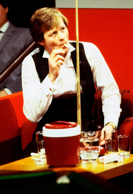 Opposites attract: audiences loved the rivalry between Alex Higgins and Steve Davis