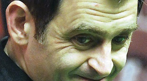 Close call: Ronnie O'Sullivan has battle on his hands