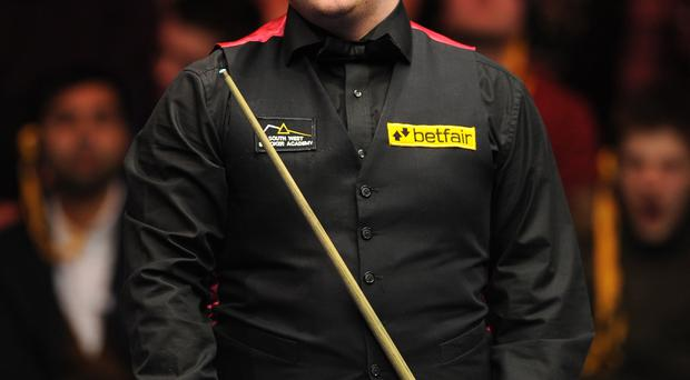 Table topper: Mark Allen is back in action at the Crucible