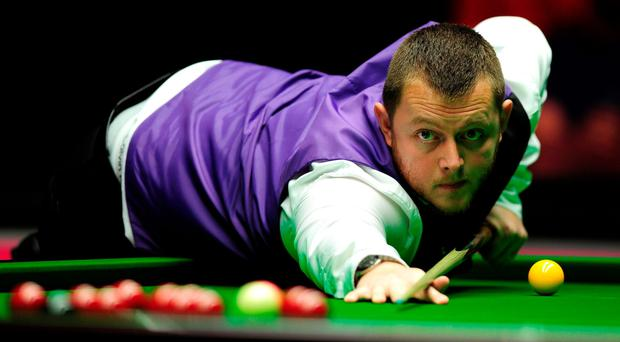 On cue: Mark Allen powered through to semi-finals