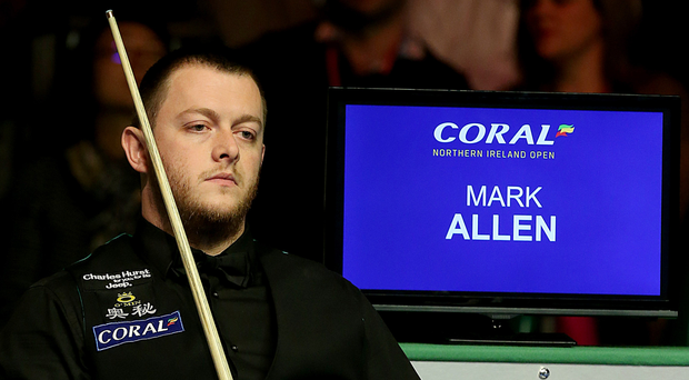 All over: Ulsterman Mark Allen can only look on as his NI Open hopes slip away against Anthony Hamilton