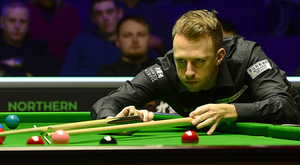 Eyes down: Judd Trump had a comfortable path into today's Northern Ireland Open semi-finals at the Waterfront Hall