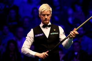 Winning spell: Neil Robertson avoided a third straight defeat in a decider