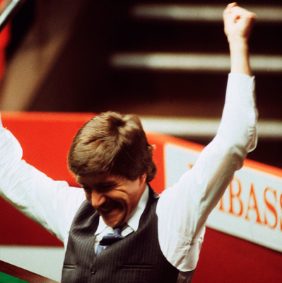 Glory days: Cliff Thorburn celebrates after making the first ever World Snooker Championship maximum 147 break at The Crucible in 1983