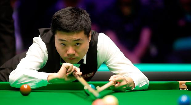 Taking aim: Ding Junhui en route to his title victory