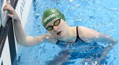 Digging deep: Danielle Hill finished eighth in women's 100m backstroke