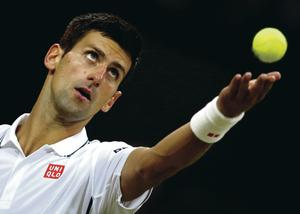 Two-time defending champion Novak Djokovic