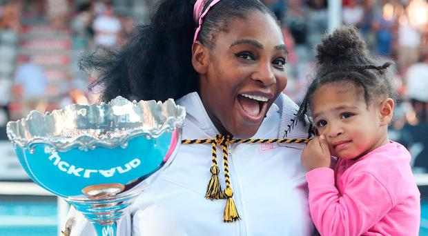 Child's play: Serena Williams with daughter Olympia