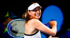 Angry: Maria Sharapova loses this week in Brisbane