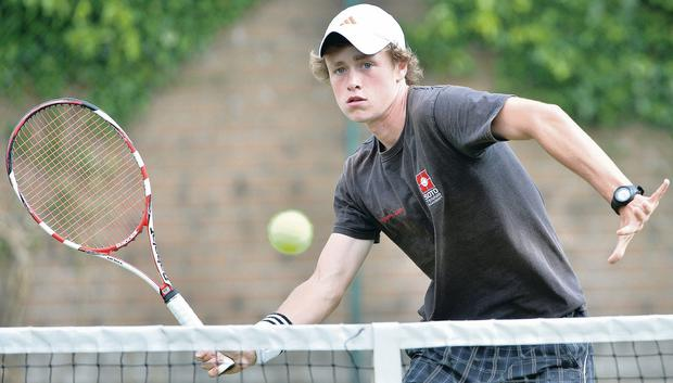 Family fortunes: Peter Bothwell is through to the quarter-finals of the Belfast City ITF event