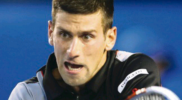 Easy does it: Novak Djokovic