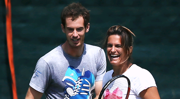 Changing direction: Amelie Mauresmo and Andy Murray have plenty of thinking to do after the Scot's final eight exit