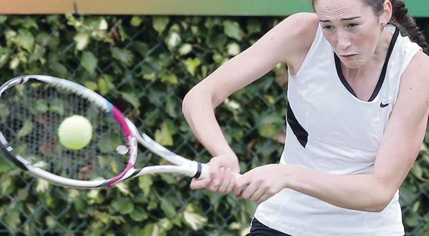 Forward motion: Dublin girl Georgia Drummy has secured her place in today's semi finals at the ITF Junior Tournament at Windsor