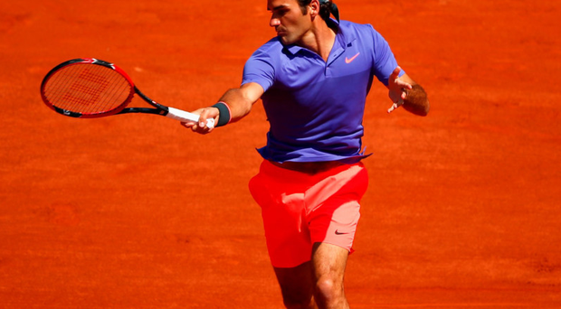 Cast long shadow: Roger Federer on way to victory over Marcel Granollers