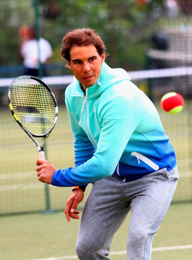 Feeling better: Rafa Nadal is back at Queen's Club