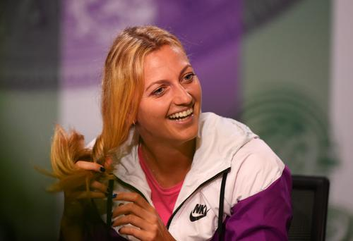 All smiles: Petra Kvitova is feeling relaxed as she begins her campaign to defend the Wimbledon title