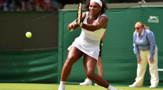 Nervous start: Serena Williams