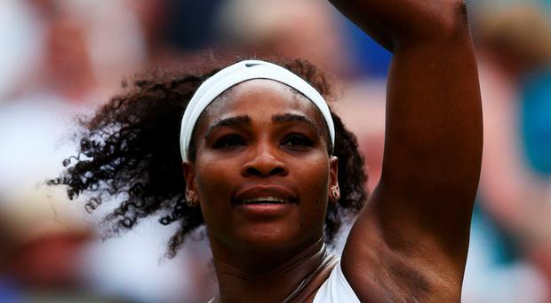 Untroubled: Serena Williams sailed into the third round