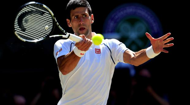 Top class: Novak Djokovic brushes aside Richard Gasquet