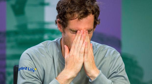 Tough to take: Andy Murray after his semi-final defeat