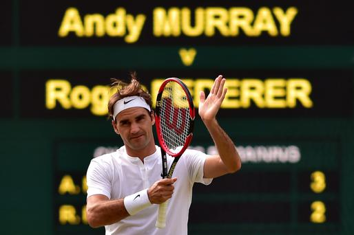 Hand it to him: Roger Federer showed sublime form