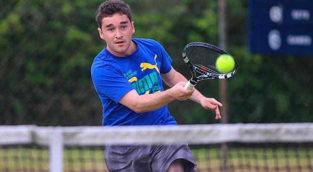 Off to a flyer: Aaron Stubbs sailed through 6-4 6-1