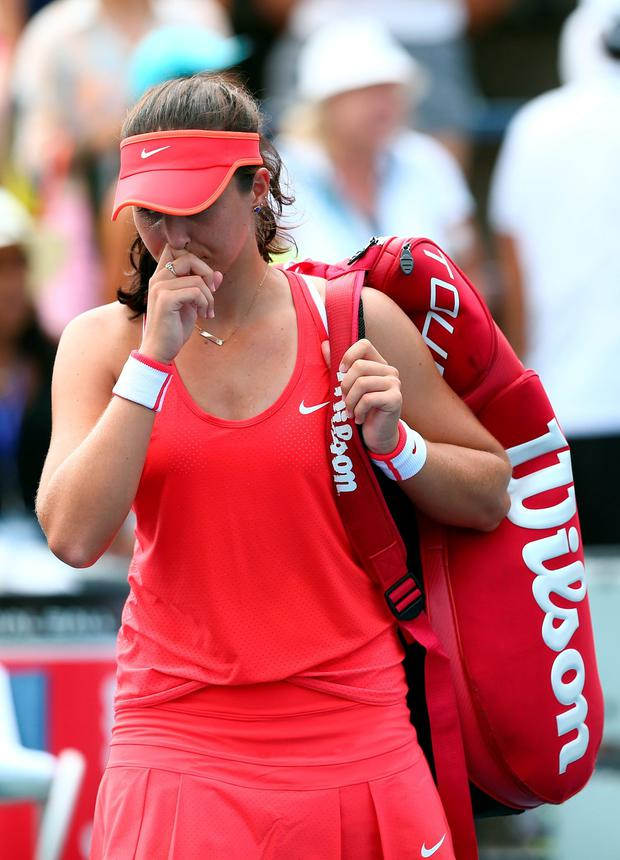 Gutted: Laura Robson exits the US Open after first round loss