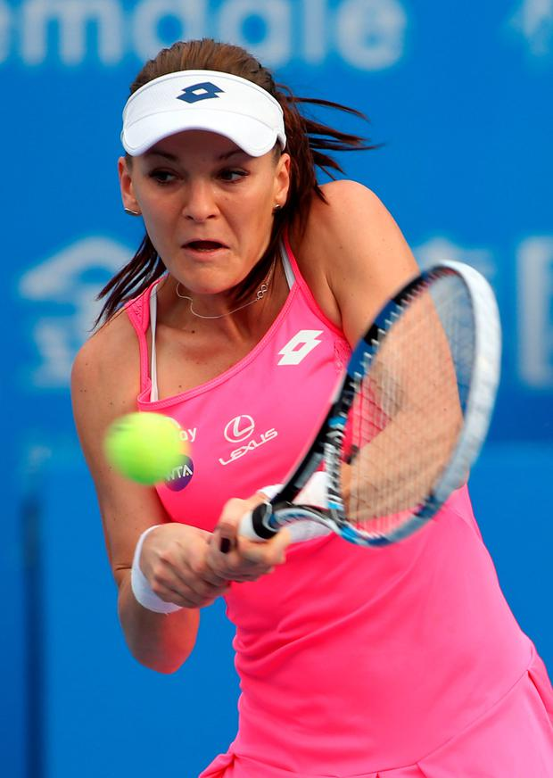 Pulled out: Agnieszka Radwanska has withdrawn from the Sydney International after picking up a leg injury