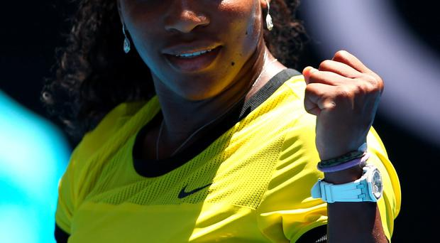 Will power: Serena Williams after yesterday's victory