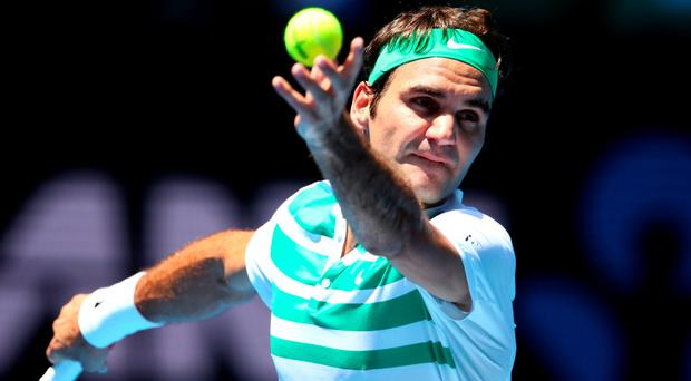 Marching on: Roger Federer is making strides in Australia