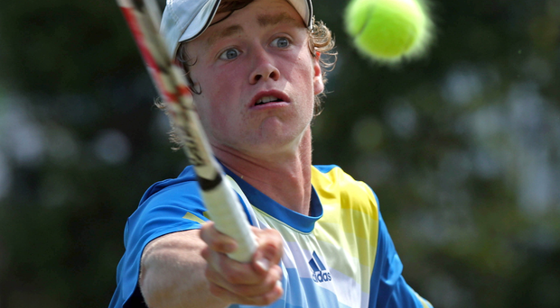 Net gains: Peter Bothwell is loving Davis Cup experience