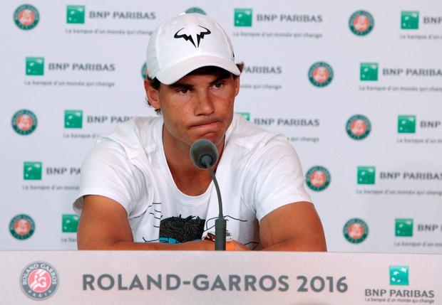 Absent injured: Rafa Nadal will miss Wimbledon this year