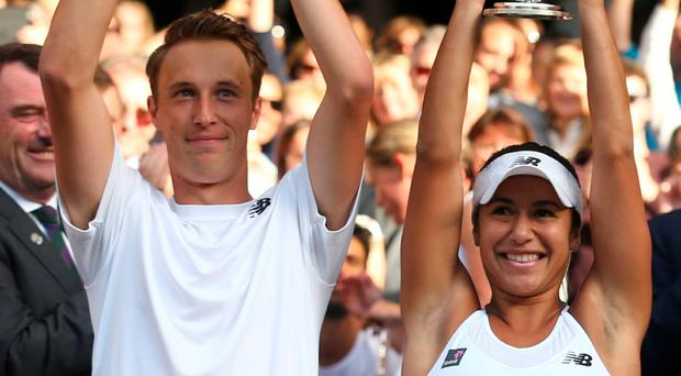 Winning combination: Henri Kontinen and Heather Watson