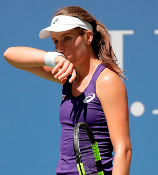 Johanna Konta slips to defeat yesterday
