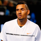 Dumped out: Nick Kyrgios threw away a two-set lead at Aussie Open