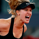 Progress: Eugenie Bouchard is on the march in Madrid