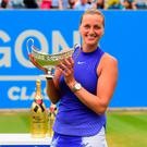 Title success: Petra Kvitova captured the Aegon Classic