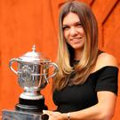Final success: Simona Halep with her French Open trophy