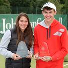 Champions: NI Open singles winners Caitlin McCullough and Jordan McKeown