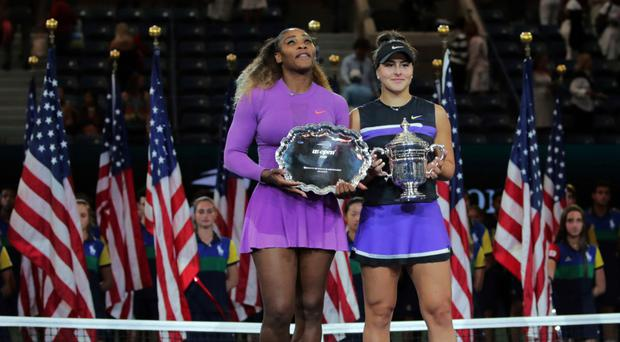 Rising star: Bianca Andreescu (right) with Serena Williams