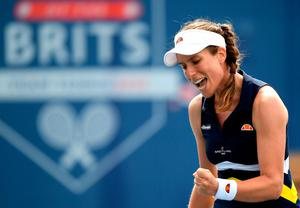 Konta fought her way back from three games down