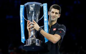 Hollow win: Novak Djokovic said he felt uncomfortable after winning the World Tour final without playing